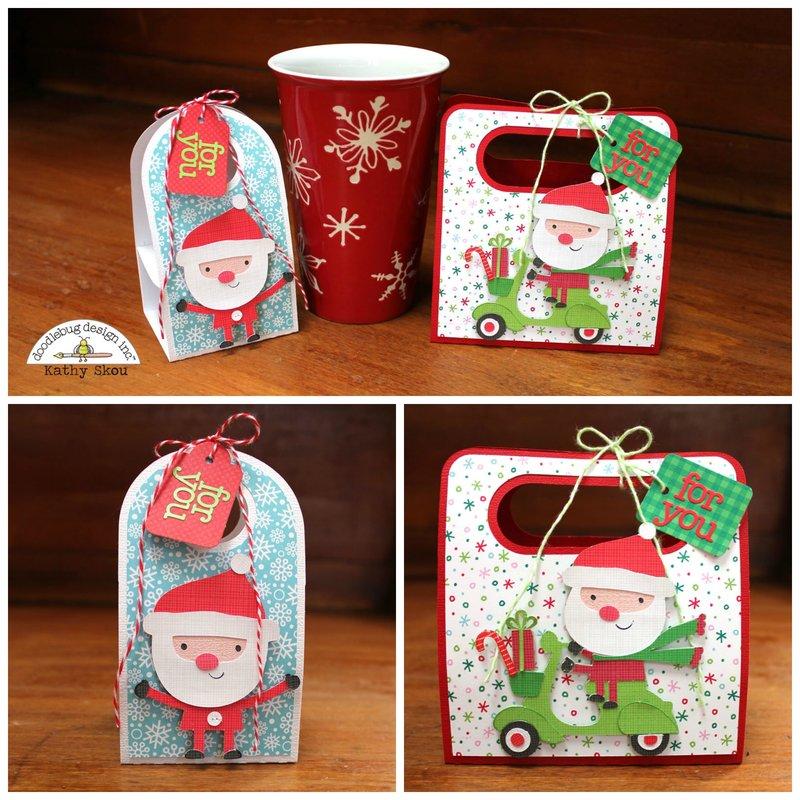 *** Doodlebug Design *** Here Comes Santa KCup Holders
