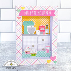 Doodlebug Design | You Bake Me Happy Shadow Box Card