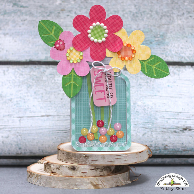 * Doodlebug Design * Mason Jar Shaker Card