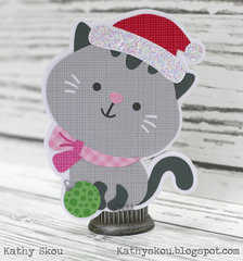 Doodlebug Design Milk and Cookies Kitty Card