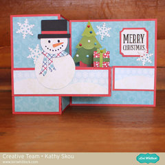 Lori Whitlock Pop Up Box Card Snowman