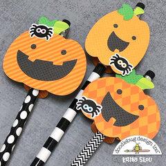 Doodlebug Design | Pumpkin Pencil Toppers