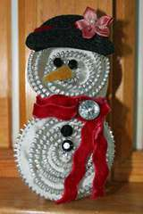 Snowman Zipper Pin