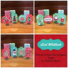 Lori Whitlock Print & Cut Christmas Tags