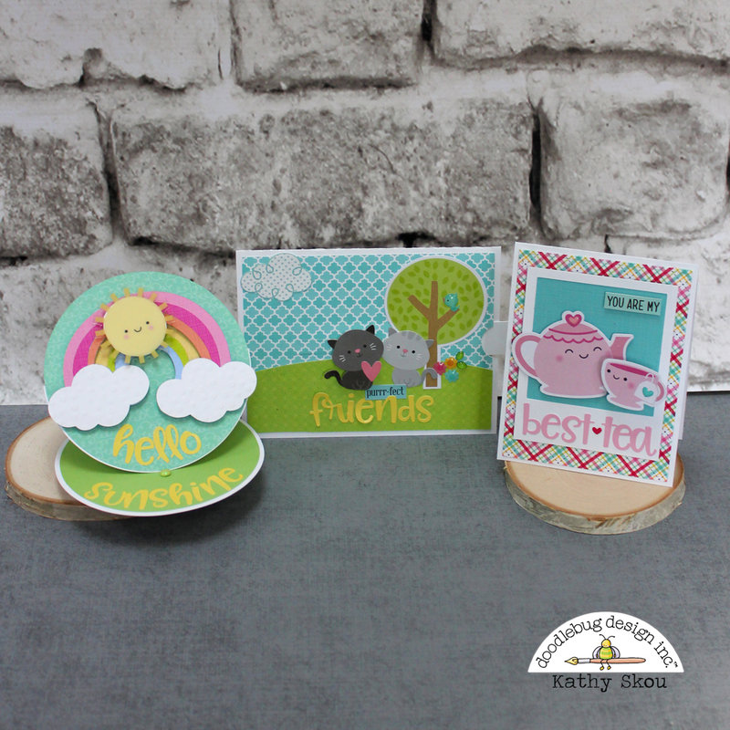 *Doodlebug Design* Abigail Font Feature Cards