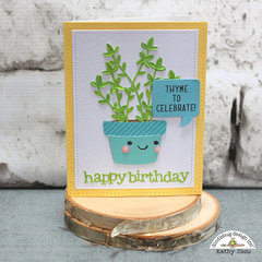 Doodlebug Design | So Much Pun Cut Files Thyme to Celebrate Card