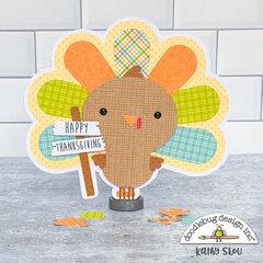 Doodlebug Design | Pumpkin Spice Turkey Card