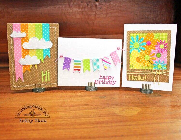 *** Doodlebug Design *** Washi Tape Cards