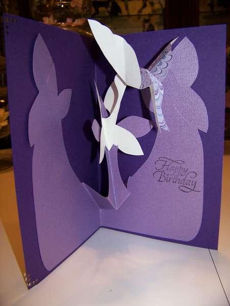 Kirigami Hummingbird Card