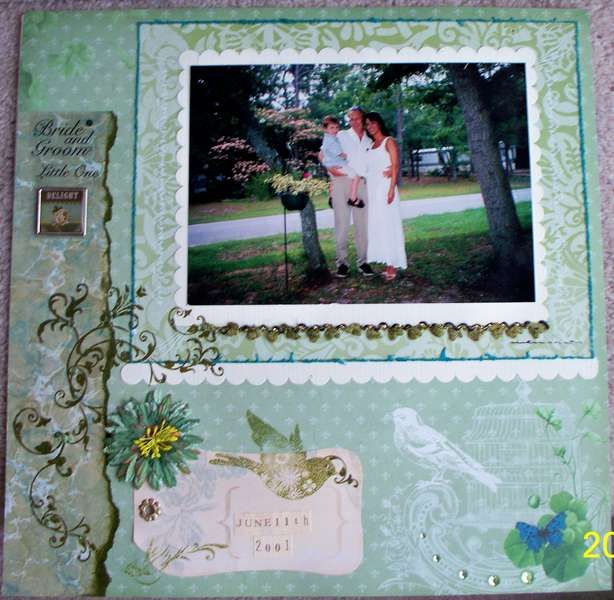 Bride, Groom, & Little One