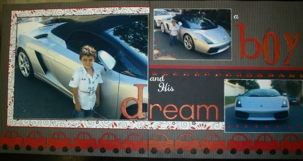 A Boy and his dream car
