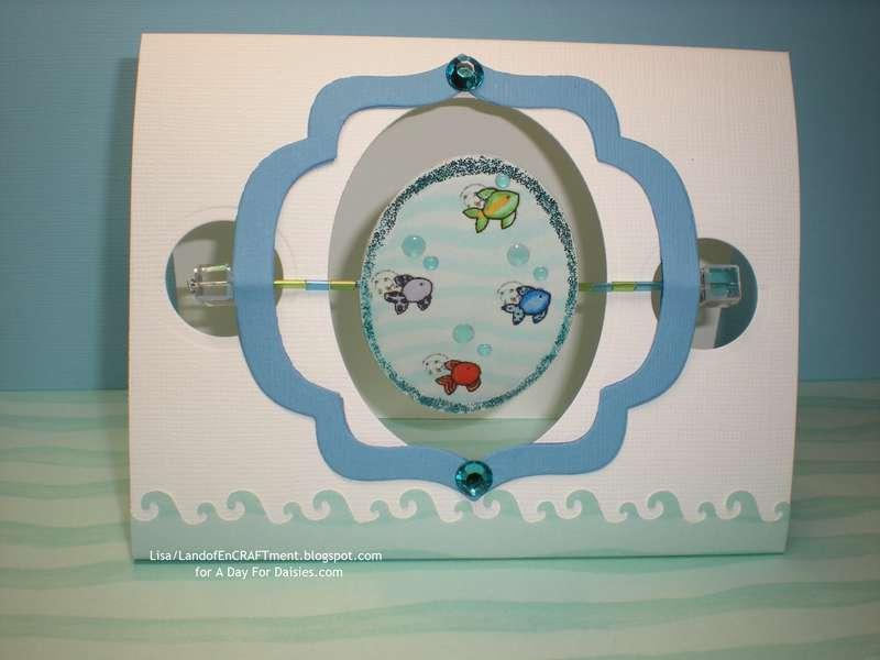 Merbaby/fishies Spindle Card