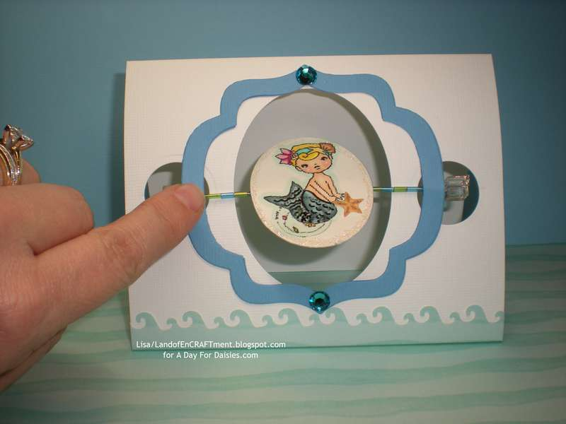 Merbaby/fishies Spindle Card
