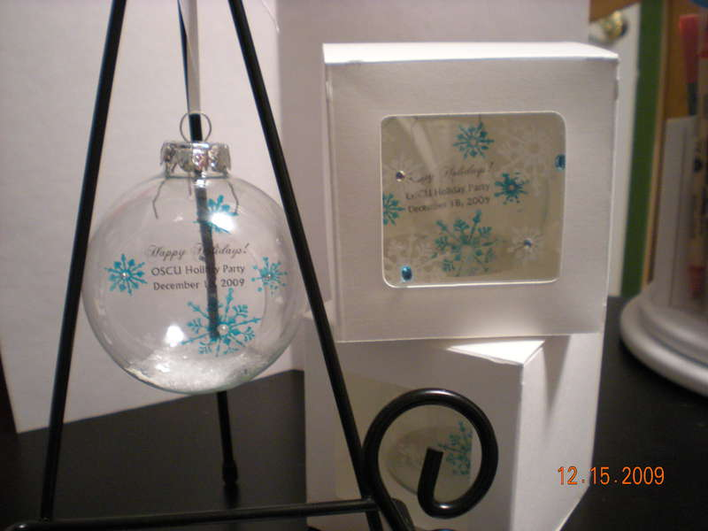 Ornament Favors for Work Party