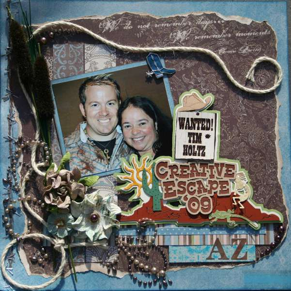 Wanted Tim Holtz~  Sketch Challenge Swirlydoo's Oct. Kit