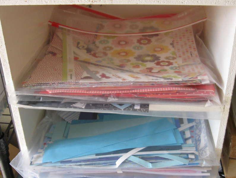 Scrap paper storage