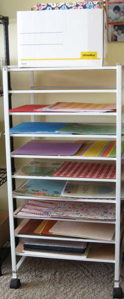 My new paper shelf (recycled)