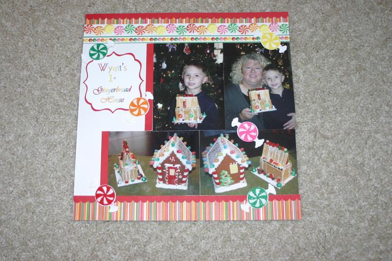 Wyatt's 1st Gingerbread House