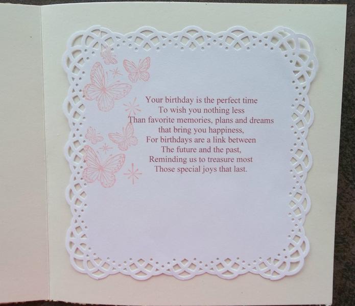 Inside of birthday card