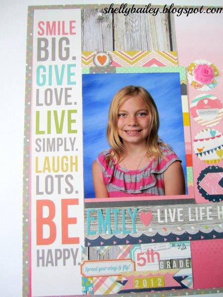 Live Life Happy Everyday - 12x12 Layout