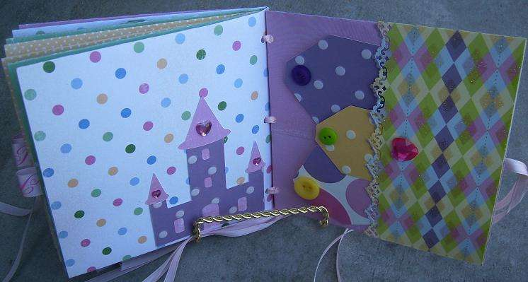 little girl princess mini album