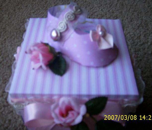 Baby Girl Exploding Box top