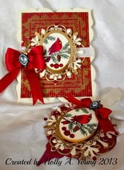 Christmas card and Ornament set
