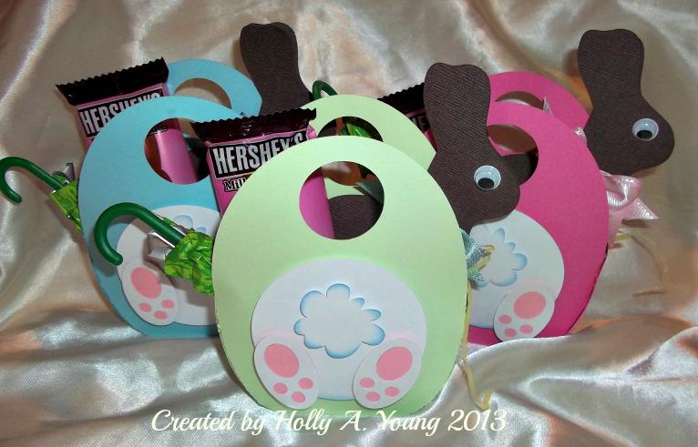 Egg totes with chocolate bunny cards