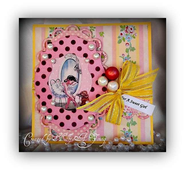 Dancing Girl birthday card