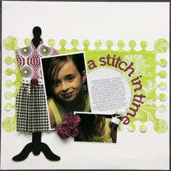 A stitch in time - ** My Scrapbook Nook March Ki**