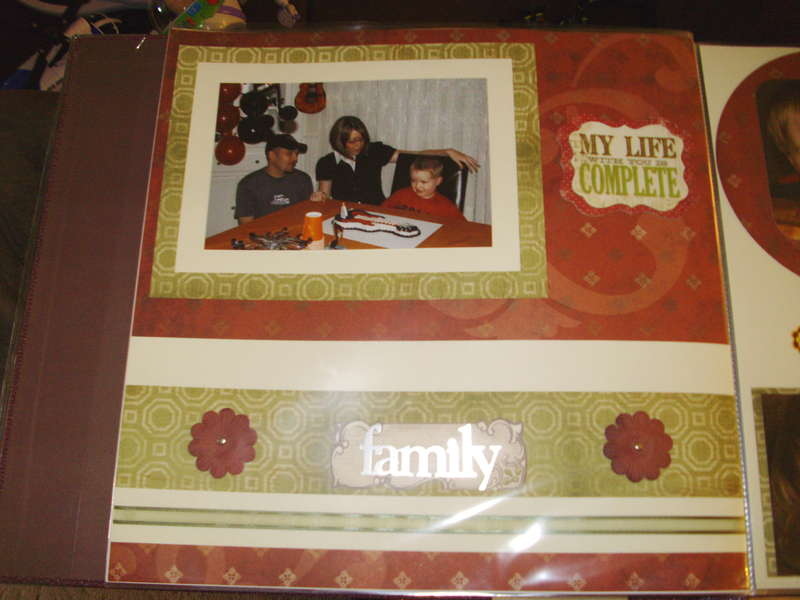 Family Scrapbook Page 6
