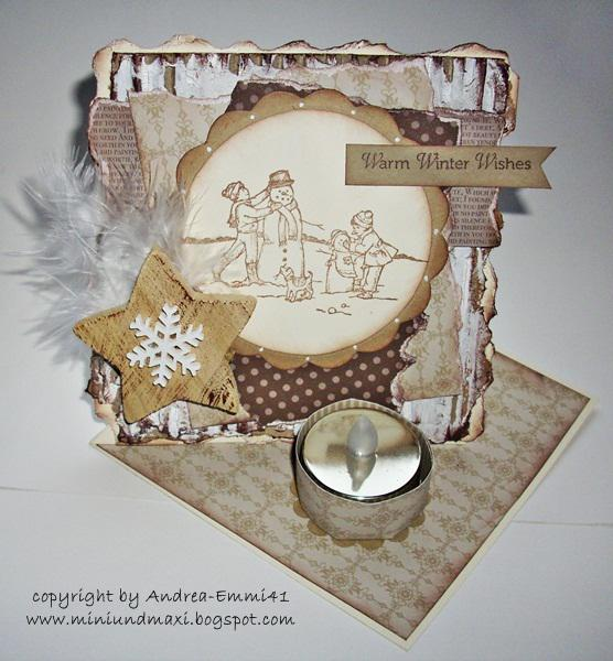 Winter-Twisted-Easel-Card with elektric Tealight