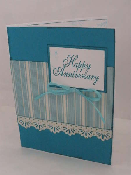 Teal Anniversary Card