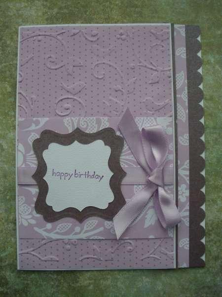 Lavender Embossed Birthday