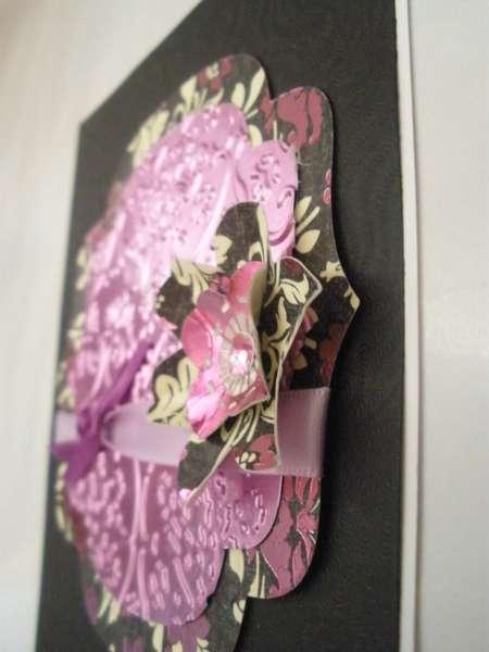 Side View of Embossed Sheet Metal Card