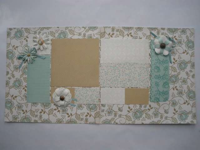 Hand Made Flowers on Two-Page Layout