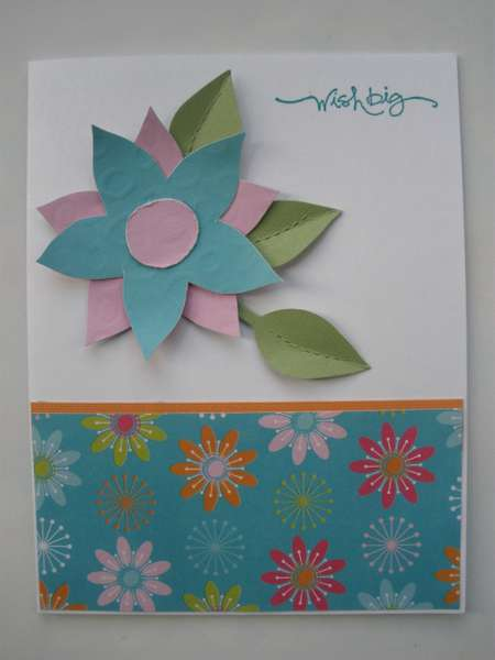 Lively Flowers Birthday Card