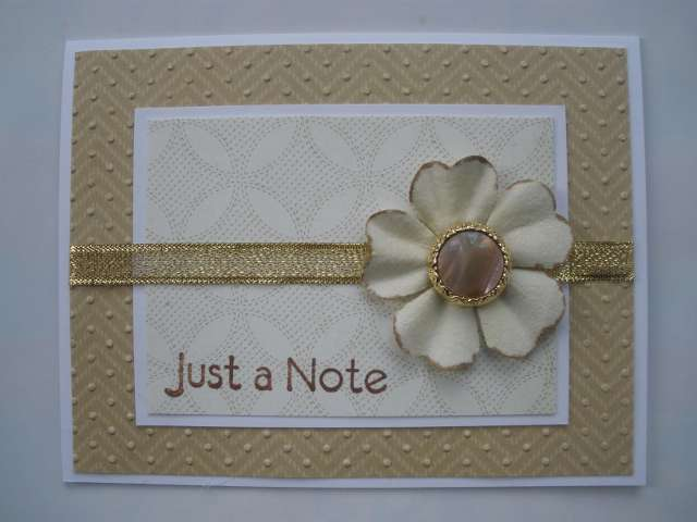 Just a Note Button Card