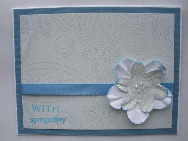 Glittery Flower Sympathy Card