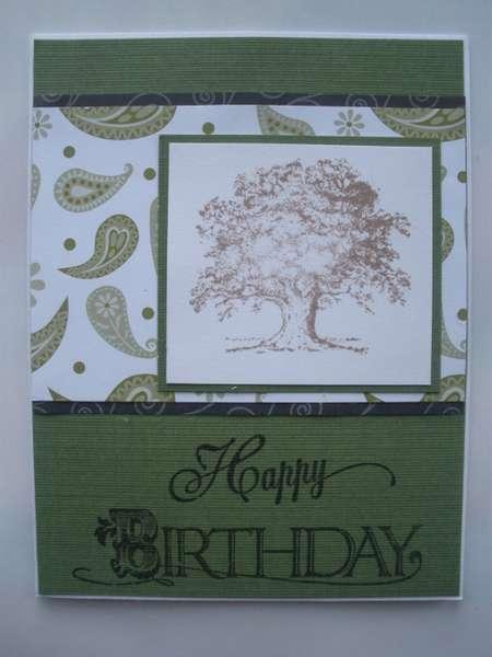 Swirly Birthday Card