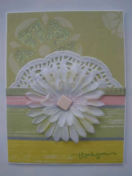 Flowers and Lace Thank You CArd