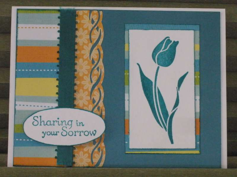 Tulip Sympathy Card