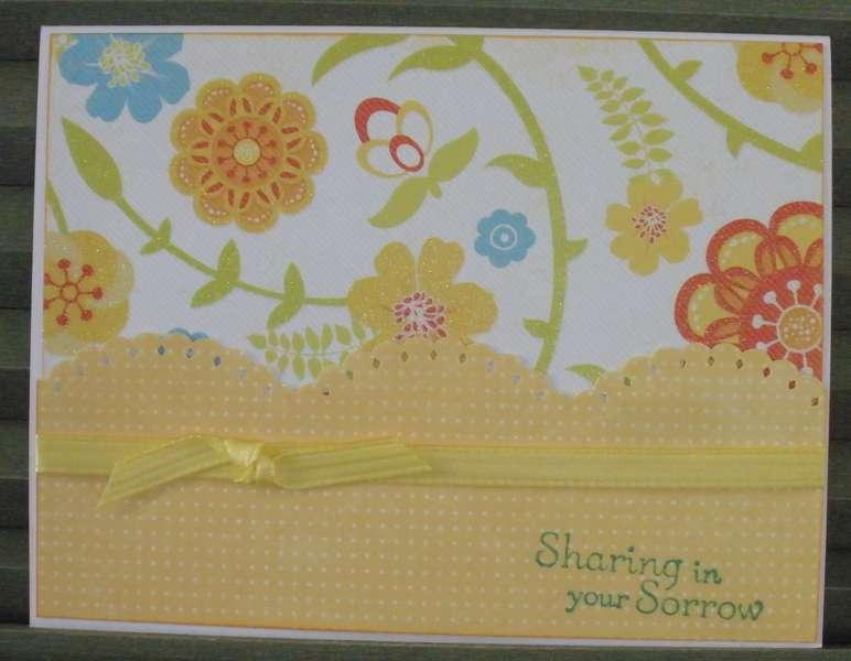 Flowers Sympathy Card