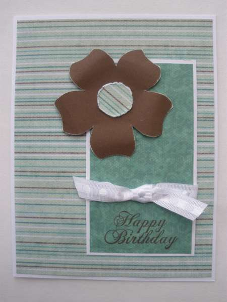 Brown Flower Birthday Card