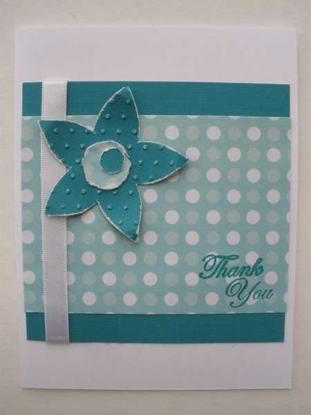 Embossed Flower Thank You