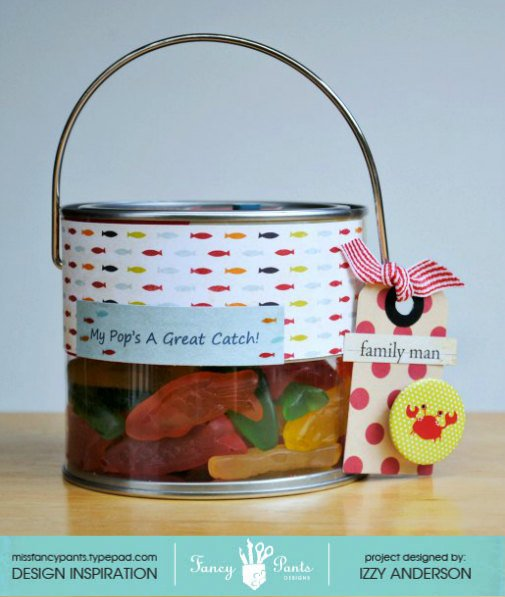Altered treat bucket (A Great Catch)