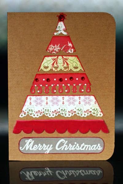 Tree Shaped holiday card