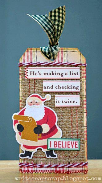 Santa's List Tag