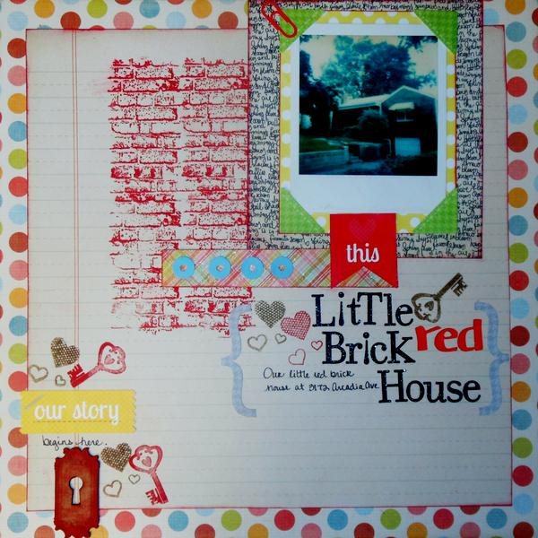 Little brick red house