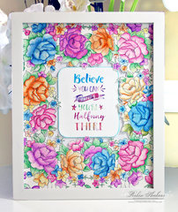 Believe You Can Watercolor Coloring Book Page